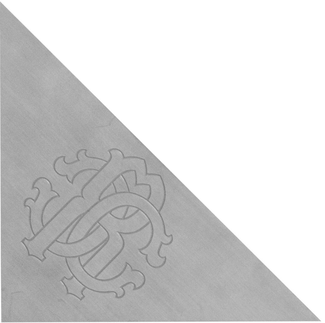 ROBERTO CAVALLI Логотип Lush Triangolo Metallo RC Acciaio 9.59*9.59*13.56 см
