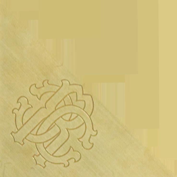ROBERTO CAVALLI Логотип Lush Triangolo Metallo RC Ottone 9.59*9.59*13.56 см